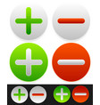 bright icons with plus minus signs vector image vector image