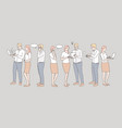 business communication coworking set concept vector image
