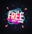 buy one get two free isolated design vector image