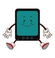 cartoon kawaii tablet device technology funny vector image vector image