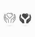 charity icon symbol solidarity help care vector image