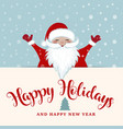 christmas card with santa vector image