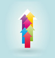 colorful arrows pointing up vector image vector image