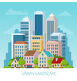 concept city and suburban life city street vector image vector image