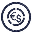currency diagram rounded grainy icon vector image vector image
