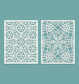die and laser cut scenical panels with snowflakes vector image vector image