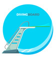 diving board or springboard used for snorkeling vector image vector image