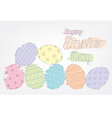 Easter eggs outline vector image vector image