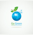 eco banner with planet earth and words go green vector image