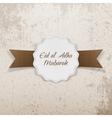 eid al-adha mubarak paper emblem vector image