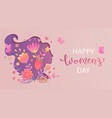 elegant card for international womens day vector image