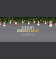 fir branch with neon lights pine cone santa claus vector image vector image