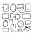 free hand drawing picture frames vector image vector image