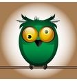funny cute bird owl vector image vector image