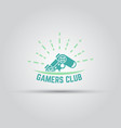 gamers club label isolated vector image