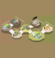 garbage recycling composition vector image