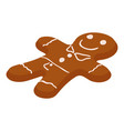 gingerbread man icon isometric style vector image vector image