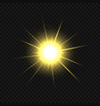 golden star burst vector image vector image