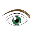green eye cartoon people watch image vector image vector image