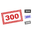 grunge 300 scratched rectangle watermarks vector image vector image