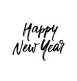 happy new year greeting card calligraphy hand vector image