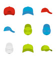 helmet icons set flat style vector image
