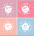 label set emblem or tag for best family vector image