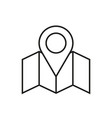 map location pin thin line icon symbol design vector image