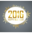 New Year background with a speech bubble vector image vector image