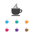 of journey symbol on tea cup vector image