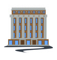 public city building in 1930s style isolated vector image