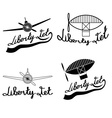 retro aviation labels set vector image vector image
