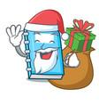 santa with gift education mascot cartoon style vector image vector image