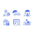 set 6 monochrome icons related to vector image vector image