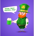 Set of Saint Patrick Day character cute vector image vector image