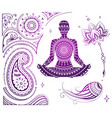 set of yoga theme vector image