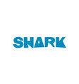 shark logo blue text vector image