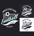 soccer or european football sign for t-shirt vector image vector image