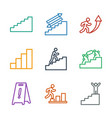 stairs icons vector image vector image