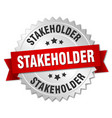 stakeholder round isolated silver badge vector image vector image