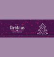 stlish line christmas tree design on purple vector image