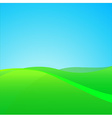 Summer Green Field vector image vector image