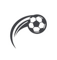 swoosh soccer football logo icon vector image vector image