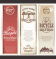 vintage bicycle retro banner for service and shop vector image vector image