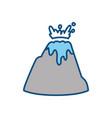 vulcan mountain symbol vector image