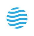 wavy logo design template blue theme abstract vector image