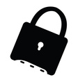 Isolated lock icon vector image