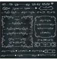 Swirling calligraphic bordersframesCurled decor vector image