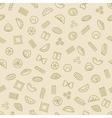 pasta and dumplings seamless pattern vector image