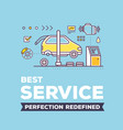 creative of car service workshop on vector image